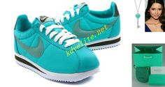 Discount Nike Classic Cortez Nylon Womens Tiffany Blue Calypso Blue 457226 303 For Sale Save up Off! Website with great deals on running shoes! Running Shoes Nike, Nike Shoes, Sneakers Nike, Tiffany Blue Shoes, Runing Shoes, Half Price Nikes, Tiffany And Co Necklace, Nike Classic Cortez, Star Shoes