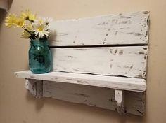 Rustic home decor Pallet shelf Bathroom Shelf kitchen