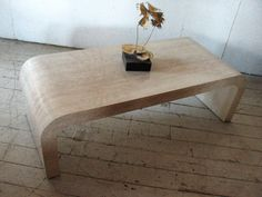 Mid Century Modern  Waterfall Coffee Table , Faux stone - Karl Springer Eames Era 70s LOVE THIS FINISH (NOT THE SHAPE), EVEN IF IT IS LAMINATE