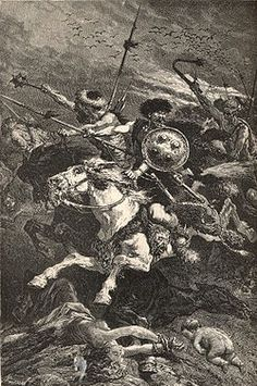 – At the Battle of Châlons , Roman and Visigoth forces led by Flavius Aetius stopped the army of Attila the Hun. Roman History, European History, Champs, Attila The Hun, The Centurions, Empire Romain, Early Middle Ages, Ancient Mysteries, Historical Art