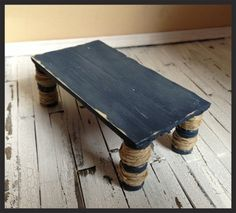 "handmade wooden lobster trap coffee table, ""sea mist"" series"