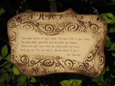 Inspirational Dr Seuss Quote Ceramic Plaque by muddwoman on Etsy, $24.00