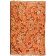 Hand-knotted Belyando Rust New Zealand Wool Rug (4' x 6') | Overstock.com Shopping - Great Deals on Surya 3x5 - 4x6 Rugs