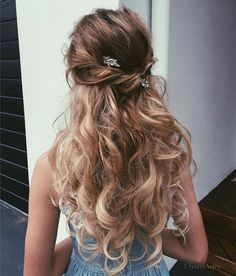 Phenomenal 31 Half Up Half Down Prom Hairstyles Curly Braided Hairstyles Hairstyles For Men Maxibearus