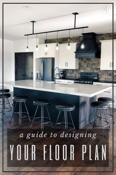 This guide will help you find your perfect floor plan for your new house. Finding Your Perfect Floor Plan for Your New House Industrial Office Design, Home Office Design, Home Interior Design, House Design, Industrial Living, Modern Industrial, Modern Farmhouse Exterior, Modern Farmhouse Kitchens, Modern Farmhouse Decor