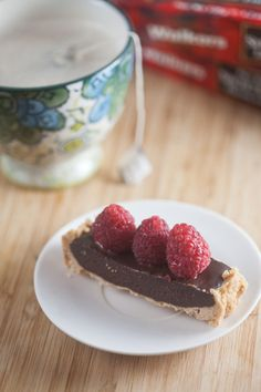 lavender dark chocolate tart with raspberries #walkersbloggerbuzz