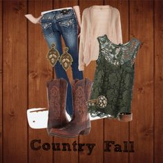 Country Girl Miss Me Jeans Fall Outfit