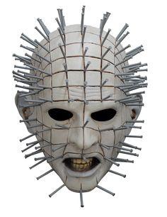 Pinhead - Hellraiser III masker voor volwassenen : Dit integraal masker voor volwassenen is van latex gemaakt en met dehandgeschilderd.Deze stelt op een realistische manier het griezelige gezicht van Pinhead, uit de film Hellraiser...