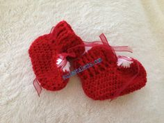 80 OFF   612 Months Crochet Baby Unisex Booties by SuziesTalents, $4.40