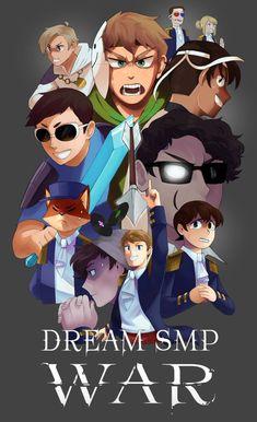My Dream Team, Just Dream, Minecraft Fan Art, Minecraft Stuff, Minecraft Posters, Team Wallpaper, Minecraft Wallpaper, Dream Friends, Fanart