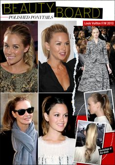 Beauty Board: Polished Ponytails #hair