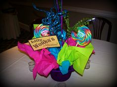 Kids candy birthday centerpiece