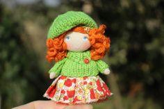 cute mini doll for dollhouse 1/12 scale, miniature doll, dollhouse accessory, tiny fabric doll, small pocket doll, dollhouse doll