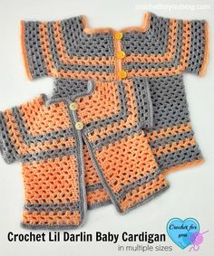 Featured at Our 161st Link & Share Wednesday Party:  Crochet Lil Darlin Baby Cardigan Pattern in Multiple Sizes - Crochet For You This pattern is adorable!