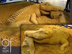 Crocodile, sand sculpture DK09-1 Uldis Zarins by Uldis Zariņš, via Flickr