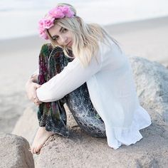 Rydel:: while camping with my brothers and friends, I decide to go to the beach and sit down watching the water, bored and just wanting to get away from everyone for a minute