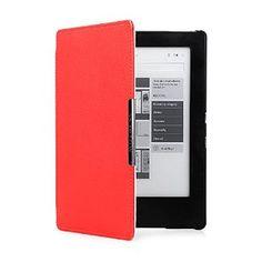 Mulbess - eReader eBook Kobo Aura H2O Hülle Case aus echtem Leder Sleeve Cover mit Elastische Handschlaufe für Kobo Aura H2O Farbe Rot