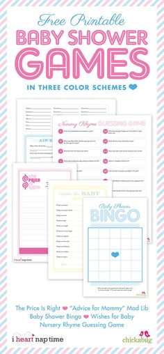 22 Baby Shower Games and free printables.  Curated by Tip Junkie.