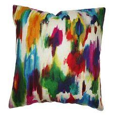 Kim Salmela Rainbow Watercolor Pillow