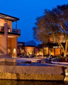 Bardessono's design incorporates local elements, from an original oak tree to the stone walls. #Jetsetter