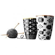 Nordic Wool thermo cup medium, 2 pcs, orange/yellow