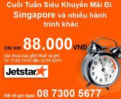 Jetstar Cuối Tuần Siêu Khuyến Mãi Vé Máy Bay Chỉ 88.000VNĐ