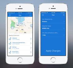 ios7 map app — Designspiration
