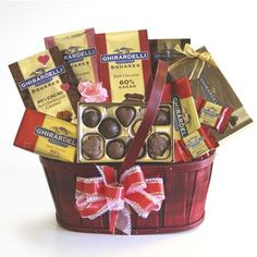 Chocolate Lover's Valentine Celebration Gift Basket $59.99 - Valentine's Day is for both Lovers and Lovers of Chocolate! http://bestgiftbasketswithstyle.com/chocolate-lover-s-valentine-celebration-gift-basket.html