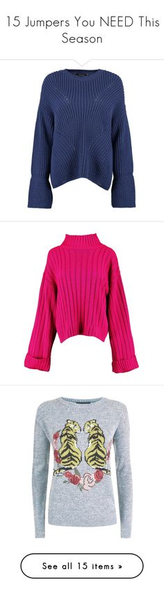 """""""15 Jumpers You NEED This Season"""" by my-fashiondiary ❤ liked on Polyvore featuring tops, sweaters, chunky turtleneck sweaters, knit wrap sweater, knit turtleneck sweater, animal print sweater, knit sweater, maxi sweater, maxi tops and pink jumper"""