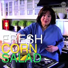 Corn Salad Running behind on dinner? In under 15 minutes you can have Ina's Fresh Corn Salad on the table.Running behind on dinner? In under 15 minutes you can have Ina's Fresh Corn Salad on the table. Corn Salad Recipes, Corn Salads, Fresh Corn Recipes, Food Network Recipes, Cooking Recipes, Chef Recipes, Fresh Corn Salad, Comida Keto, Mothers Day Breakfast