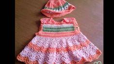 Vestidos faciles tejidos a crochet para recien nacido Vestidos a crochet para…