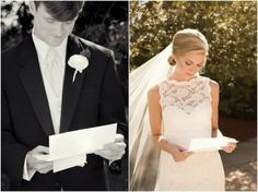 Letters to each other the morning you get married. <3