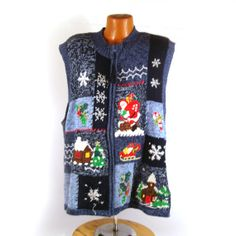 Ugly Christmas Sweater Vintage Cardigan by purevintageclothing