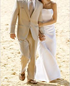 Beach Wedding Attire for Grooms » Mens Wedding Rings and Bands Blog