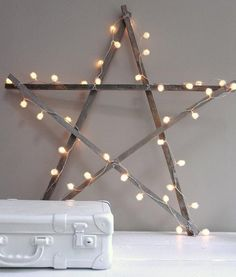 Make this Shabby star light tutorial and 45 BEST Shabby Lifestyle Decor Accessory DIY Tutorials EVER!! From MrsPollyRogers.com