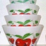 Vintage cherry bowls