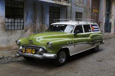 1950's Era Antique Car and Street Scene from Old Havana, Havana, Cuba Photographic Print by Adam Jones at AllPosters.com