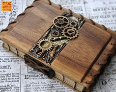 Kitten Eyes and Roses by Sue Davidson on Etsy Kitten Eyes, Wooden Books, Bookbinding, Steam Punk, Paper Goods, Italian Leather, Crafts To Make, Roses, Notebook