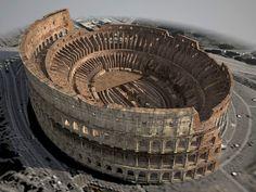 3d model colosseum ruins roman