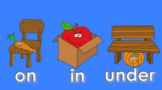 A simple video for kids to practice the prepositions on, in and under. Download song here: http://cdbaby.com/cd/mapleleaflearning2 Watch more preposition son...