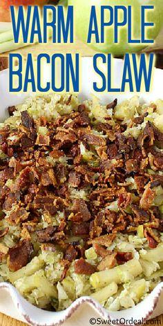 Warm Apple Bacon Slaw
