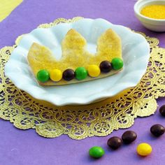 Big Daddy's Mardi Gras Crown Cookies (THE PRINCESS AND THE FROG)