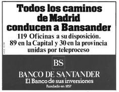 Publicidad Taurina años 80. Banco Santander