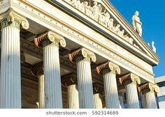 athens academy columns pediment view