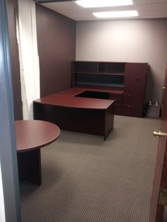 New Office Furniture Installed In My Plenty Of Storage And Desk E At Such A Reasonable Price Find Out Where To Get This