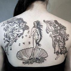 Birth Of Venus, Sandro Botticelli art tattoo 106 Classical Art-Inspired Tattoos You Never Knew You Needed Until Now Form Tattoo, Shape Tattoo, Tattoo You, Tattoo Skin, Tiny Tattoo, Venus Tattoo, Aphrodite Tattoo, Goddess Tattoo, Pretty Tattoos