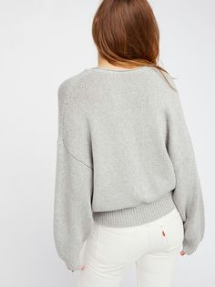 Perfect Day Pullover. Grey Heather.