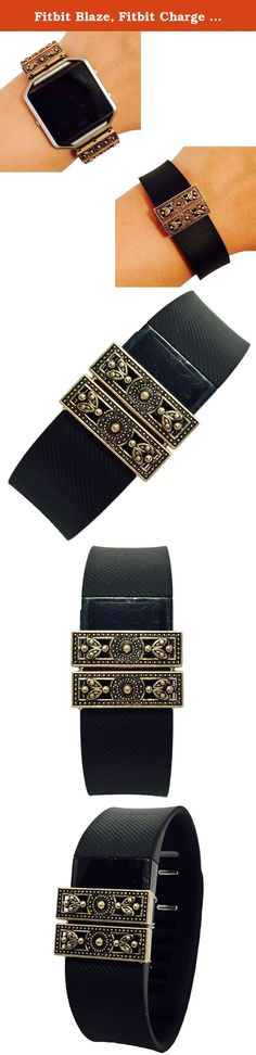 Fitbit Blaze, Fitbit Charge Jewelry - Fitbit Fitness Tracker Accessory Bracelet - Delicate Aged Gold Intricate MARRAKESH Fitbit Charm Accessory (Fitbit Blaze). Fitbit Blaze, Fitbit Charge Jewelry - Fitbit Fitness Tracker Accessory Bracelet - Delicate Aged Gold Intricate MARRAKESH Fitbit Charm Accessory. Harmonize weekend style & wearable tech! This Delicate Aged Gold Intricate MARRAKESH Fitbit Charm Accessory for the Fitbit Blaze and Fitbit Charge activity trackers is a boho, chic and a...