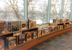 Have you visited our new magazine section recently? Not only do you get a large selection of magazines, but you also get a wonderful view!