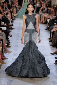 Zac Posen gray dress